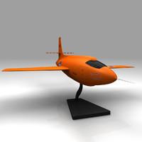 Bell X-1 model plane