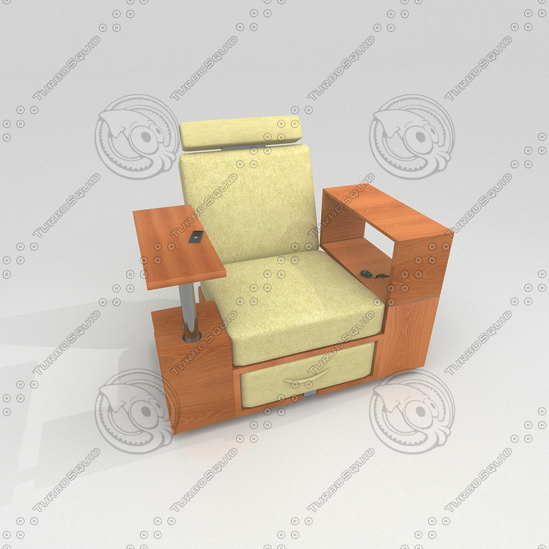 workstation chair 3d model