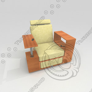 workstation chair 3d model