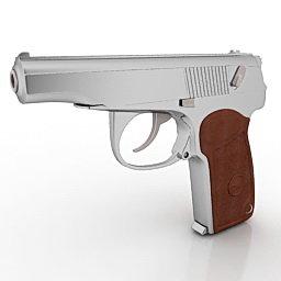 9 mm makarov pistol 3d model