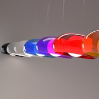 3d balun pendant light model