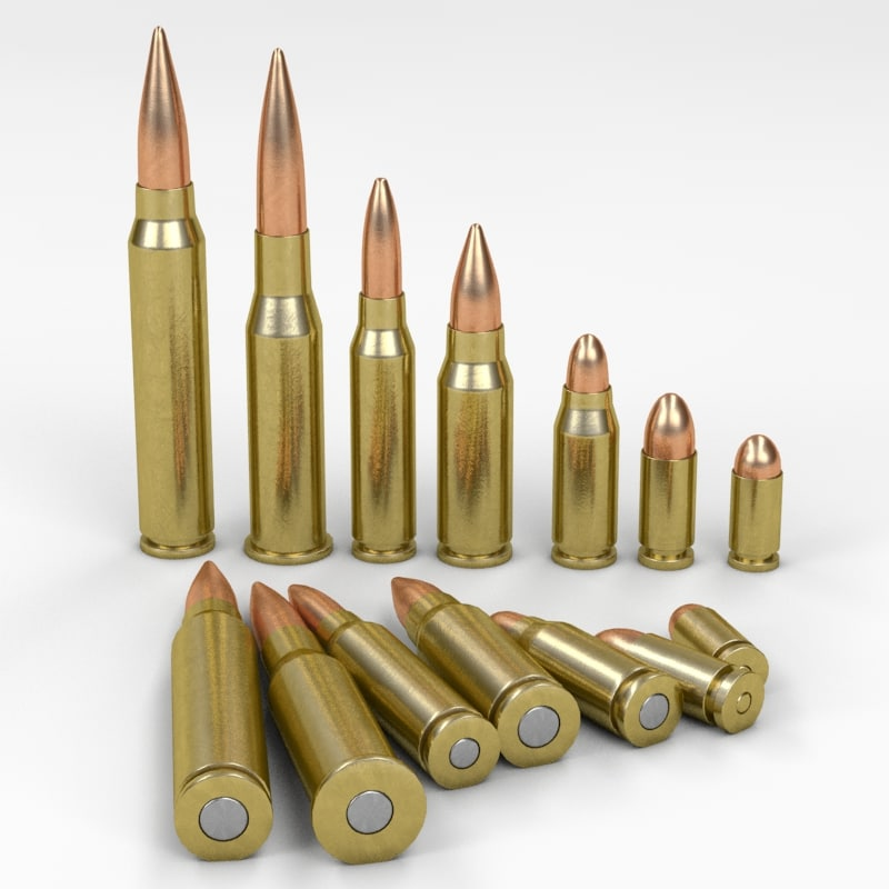 3d model bullets