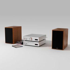 denon speaker loudspeaker 3d max