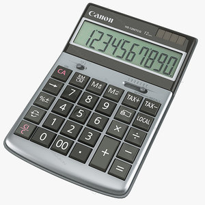 calculator canon hs 1200 3ds
