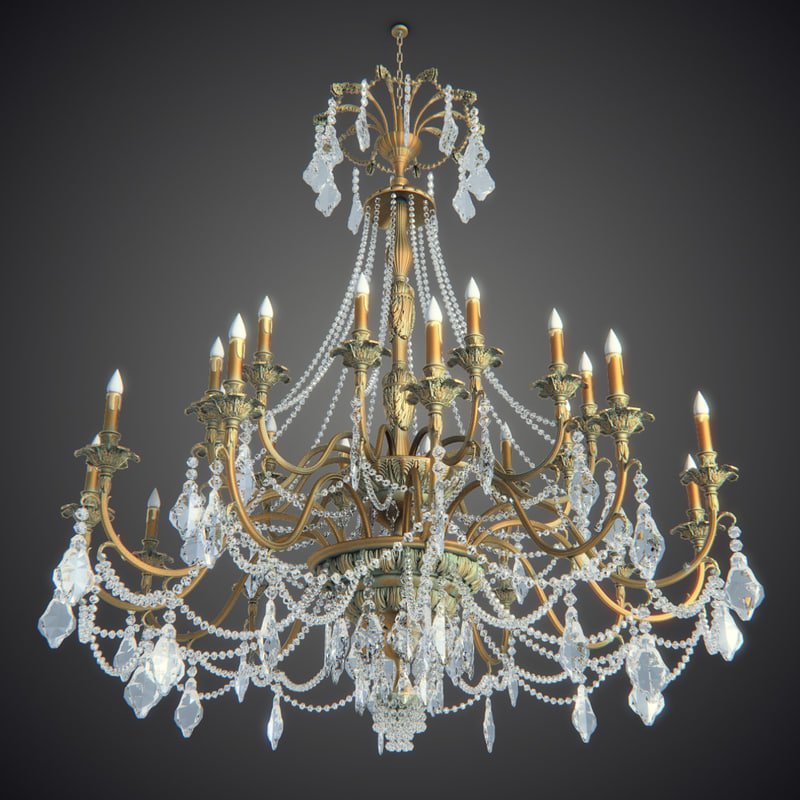 Chandelier 3d models for download turbosquid 3d model chandelier big 1 aloadofball
