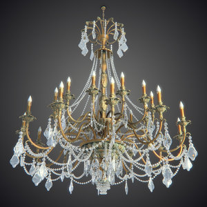 3d model chandelier big 1