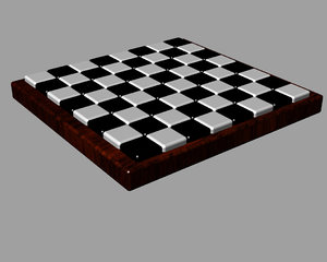 free 3dm model checkers chess board