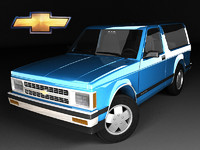 3d model chevrolet s-10 blazer mk1