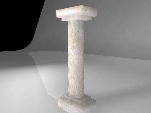 pillar twist 3d model