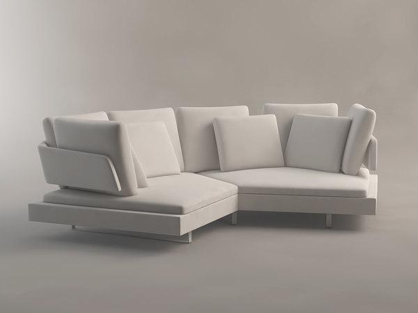 corner sofa arne b italia 3d max