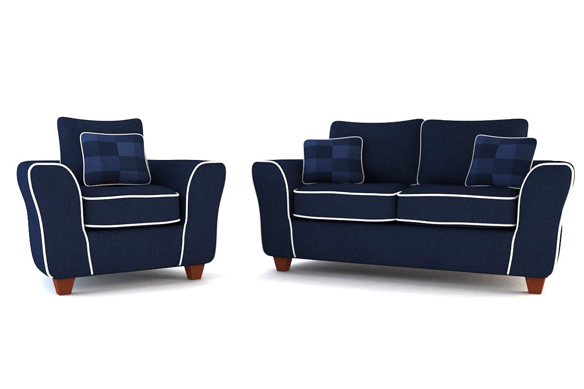 3ds max blue arm chair sofa set
