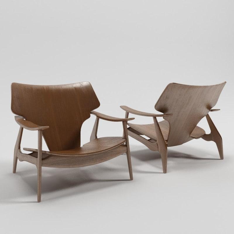 3d model diz armchair sergio rodrigues