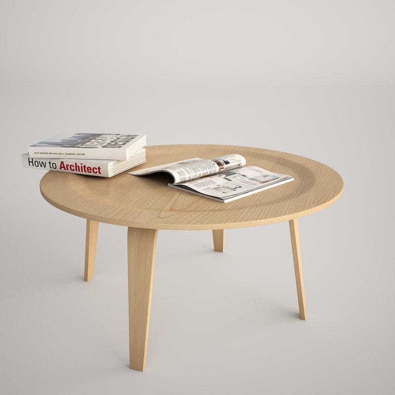 max realistic charles eames plywood