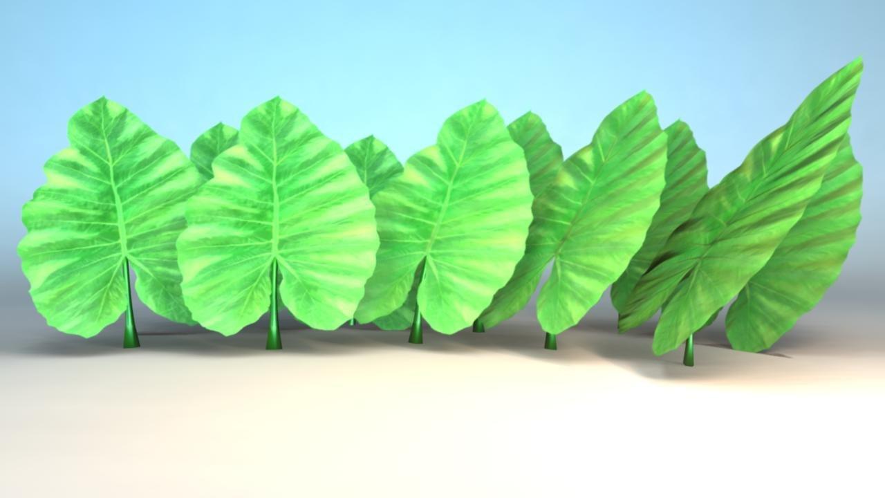 elephant leaf 3d ma