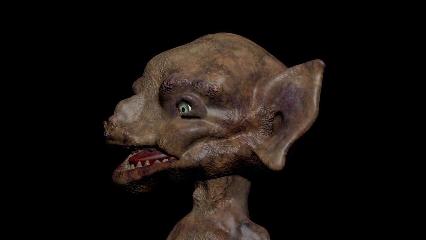 dark creature obj