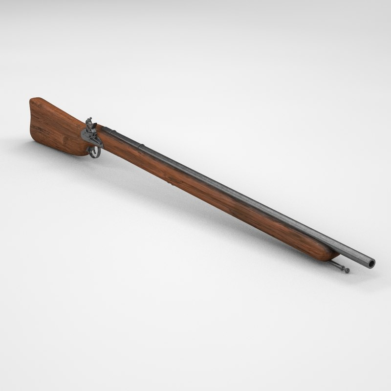 3d flintlock rifle