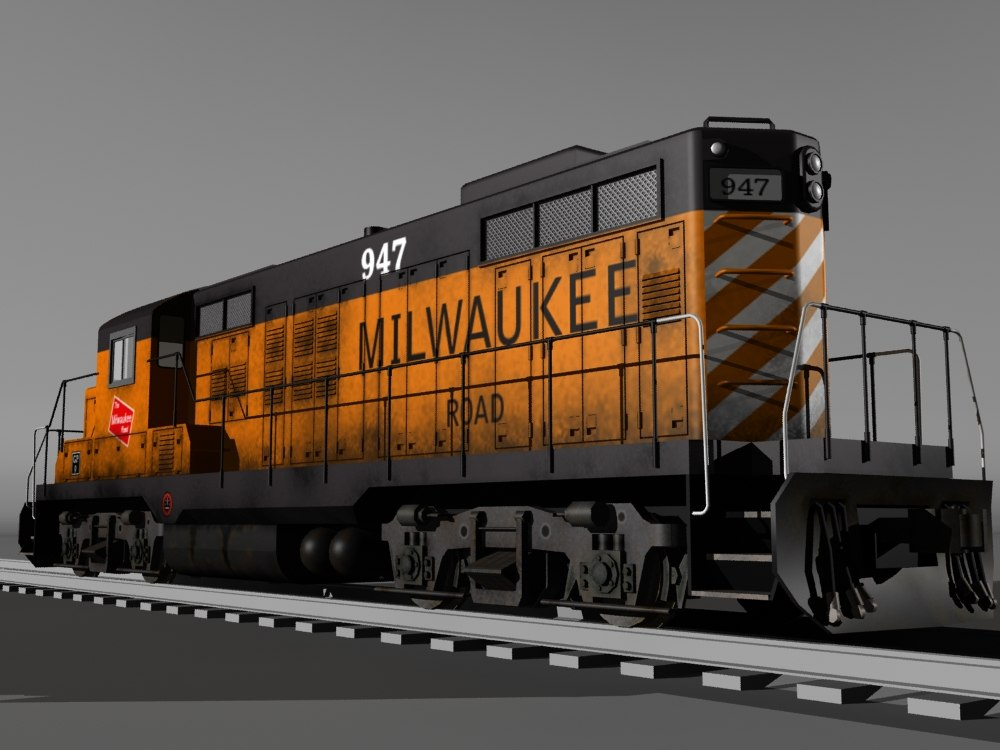 1960s gp9 locomotive max