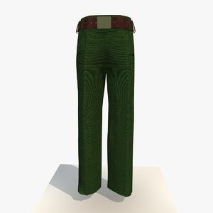 womans green trousers 3ds