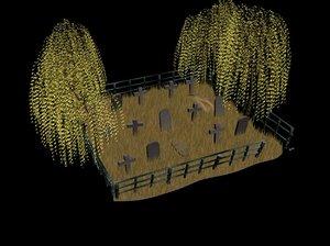 3d model graveyard
