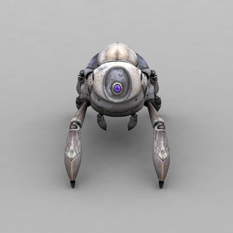 3d crap head robo model