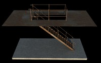 Iron Stair 3D Obj Model