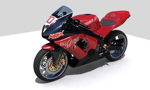kawasaki ninja motorcycle redline 3d model