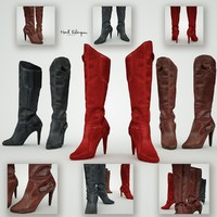leather boots obj