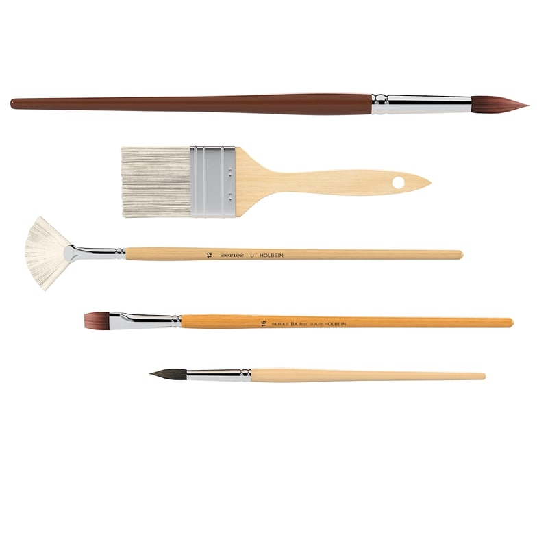 brushes set 3d model