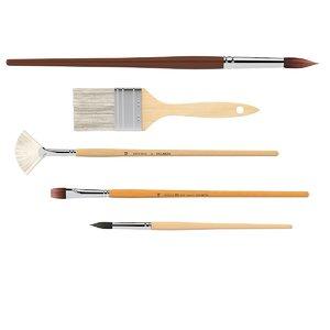 brushes set 3d model