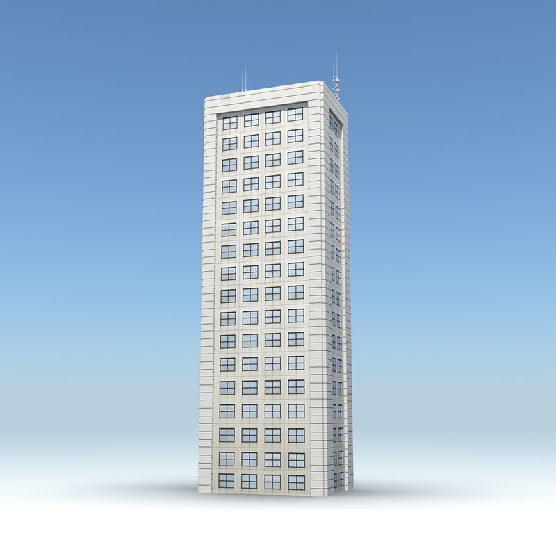 skyscraper 15 day night 3d obj