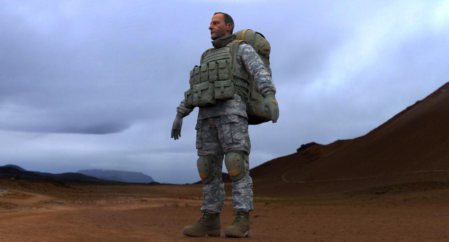 3d model soldier -