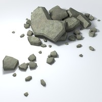 3ds max rubble piles