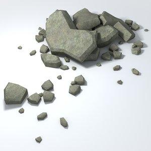 3ds max rubble piles