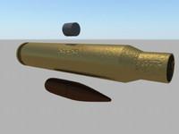 3d cartridge 5 56mm rusty model