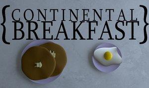pancakes eggs 3d model