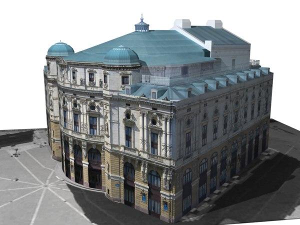 3d model of arriaga theatre bilbao