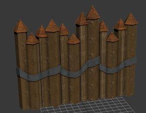 spiked fences 3d model