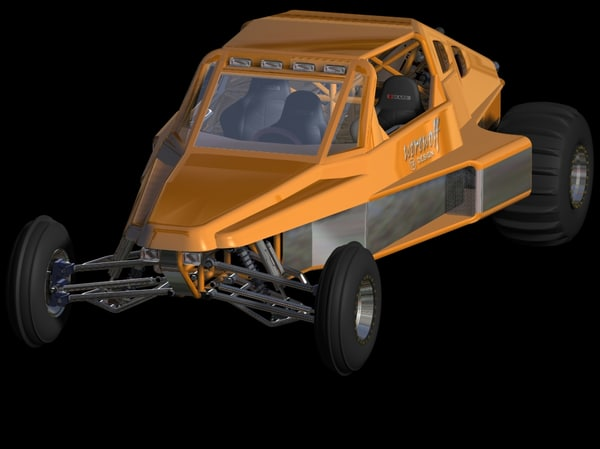 3d model of valkyrie v1 road sandrail