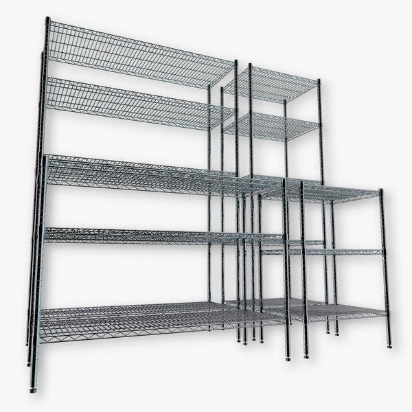3d model wire shelving kit
