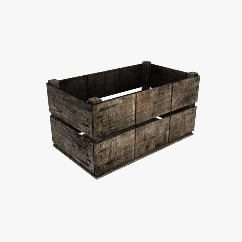 wooden storage crate max