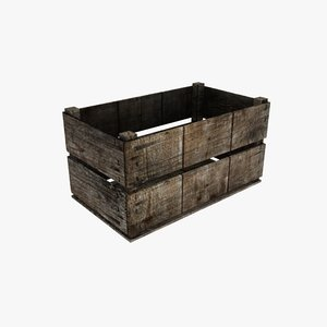 wooden storage crate max