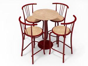 chairs portuguese 3d model