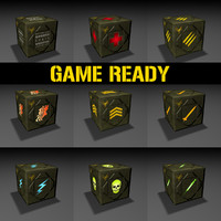 ready crates games 3d model