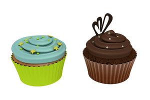 3d model cupcakes