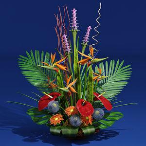 3d exotic bouquet model