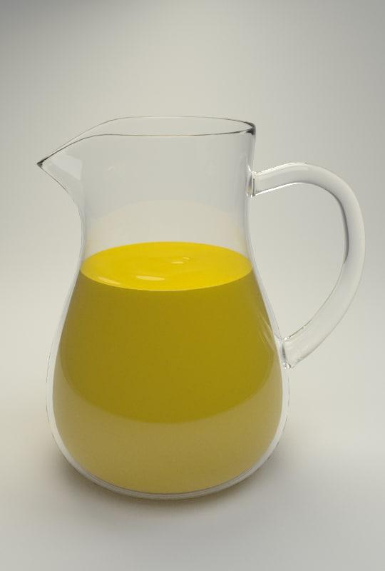 pitcher juice 3d model