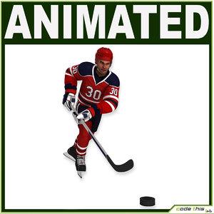 helmet hockey characters player 3d max