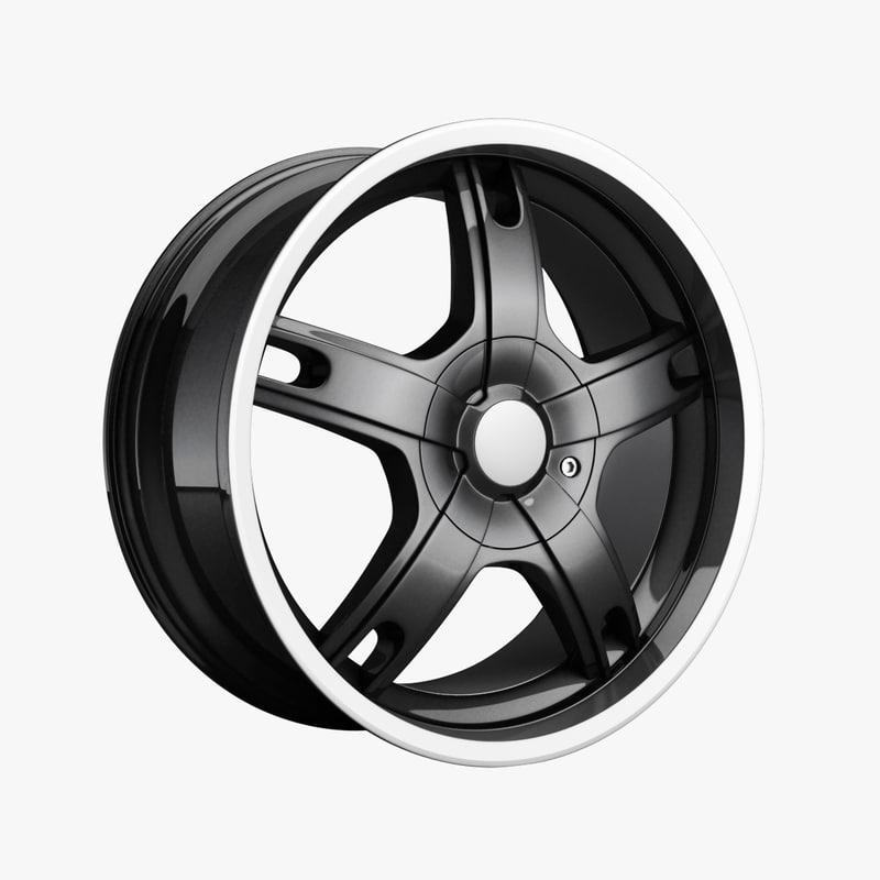 3dsmax wheel rim