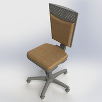 chair stool furniture office 3d model