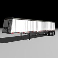 jetco grain semi trailer 3d model